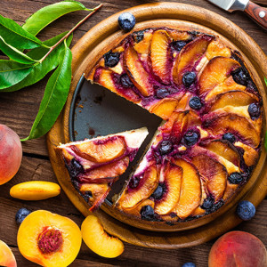 No Fail Recipes: Roasted Peach Cheesecake