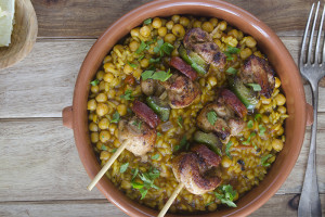 No Fail Recipes: Chicken and chorizo over chickpeas