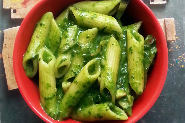 Spinach Cheese Pasta 1000