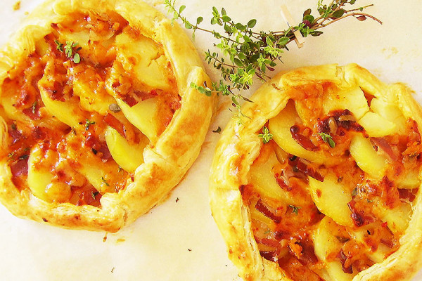 Two Rustic Potato and Thyme Galettes