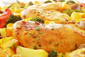 Sheet Pan Chicken with Harvest Vegetables